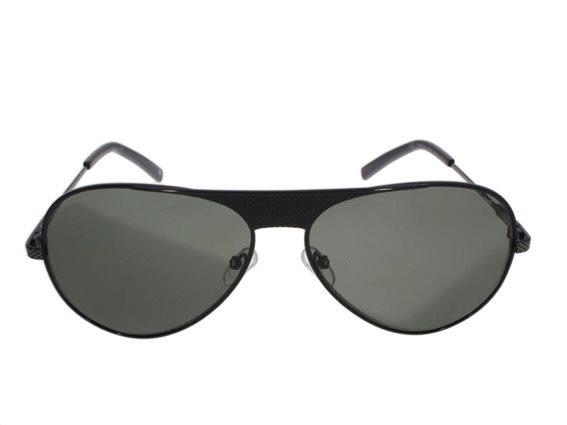 Polaroid Ανδρικά Γυαλιά Ηλίου με μεταλλικό σκελετό σε μαύρο χρώμα και πράσινους φακούς