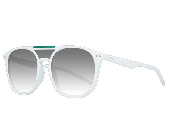 Polaroid Γυναικεία Γυαλιά Ηλίου με πλαστικό σκελετό σε λευκό χρώμα και γκρι φακούς