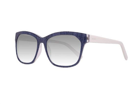 Esprit Γυναικεία Γυαλιά Ηλίου με κοκκάλινο μπλε λευκό σκελετό και γκρι φακούς, Esprit 17884 543