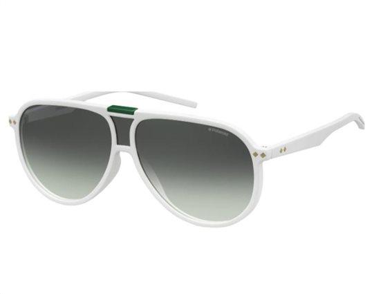 Polaroid Unisex Γυαλιά Ηλίου με πλαστικό σκελετό σε λευκό χρώμα και γκρι φακό, PLD 6025/S VK6 99