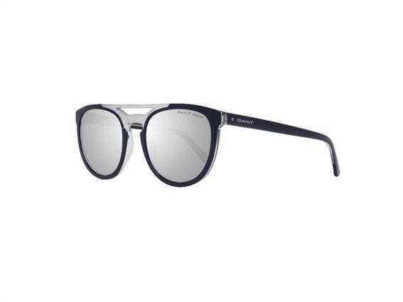 Gant Ανδρικά Γυαλιά Ηλίου με κοκκάλινο μπλε σκελετό και γκρι φακούς,  GA7104 90D 55