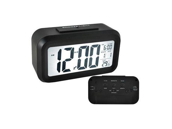 Aria Trade Ψηφιακό Επιτραπέζιο Ρολόι LED με ένδειξη Θερμοκρασία, Ξυπνητήρι και Ημερομηνία, 13.6x4.5x7.7 cm