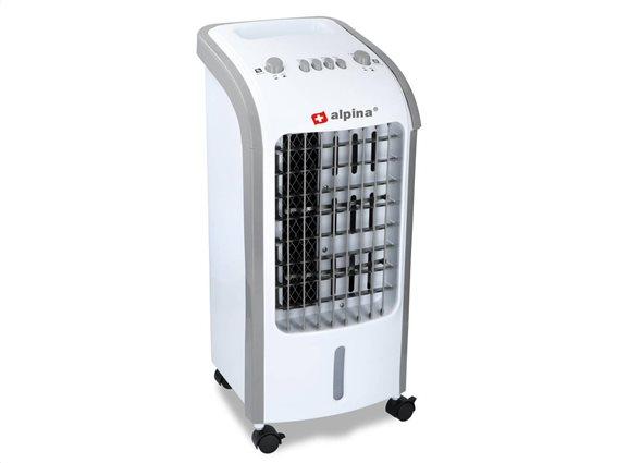 Alpina Air Cooler Φορητό Κλιματιστικό Δαπέδου 62W, χωρητικότητας 4ltr με 3 ταχύτητες, 25x27x57 cm