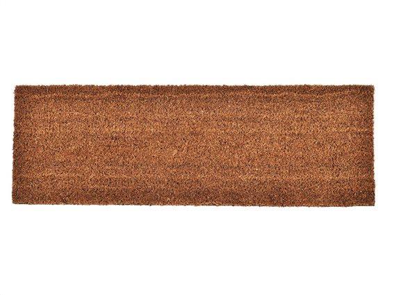 Πατάκι Χαλάκι εισόδου σε ανοιχτό καφέ χρώμα, 25x75 cm, Coco