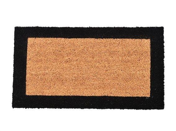Πατάκι Χαλάκι εισόδου Δίχρωμο σε μαύρο καφέ χρώμα, 33X60cm