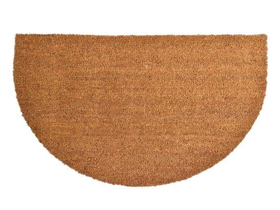 Πατάκι Χαλάκι εισόδου σε καφέ χρώμα ημικύκλιο, 45x75 cm , Coco