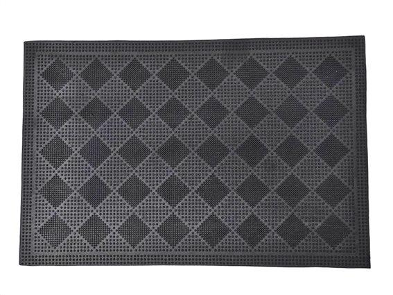 Πατάκι Χαλάκι εισόδου σε μαύρο χρώμα με ανάγλυφα σχέδια,40x60 cm