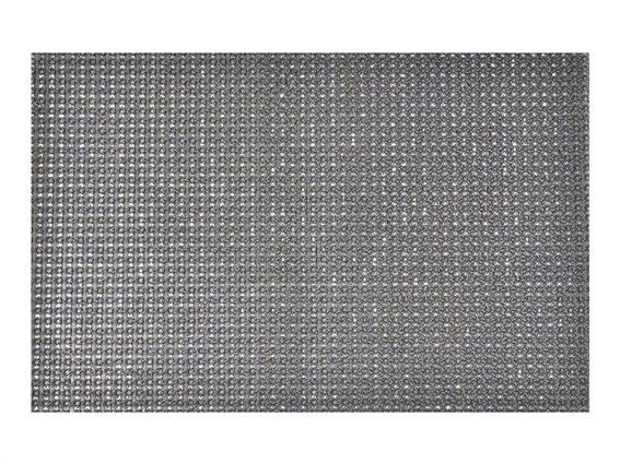 Πατάκι Χαλάκι εισόδου με σχέδιο τεχνητό γρασίδι σε γκρι χρώμα 40x60 cm, Pixie