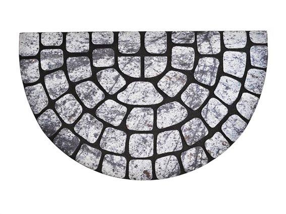 Πατάκι Χαλάκι εισόδου με σχέδιο τύπου πλακόστρωτο, 45x75 cm