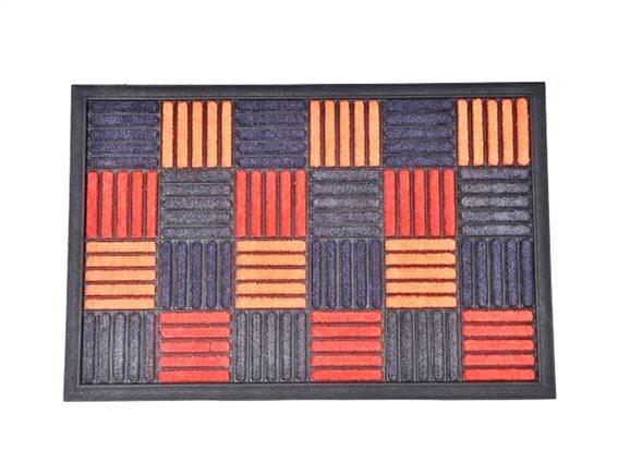 Πατάκι Χαλάκι εισόδου 40x60 cm με πολύχρωμο ανάγλυφο σχέδιο, Caroll