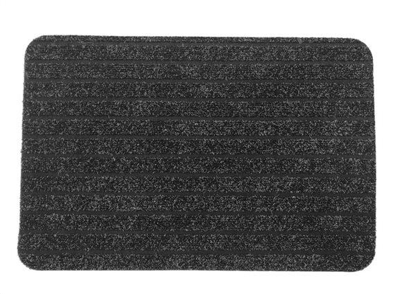 Πατάκι Χαλάκι εισόδου με σχέδιο ρίγες σε γκρι μαύρο χρώμα 40x60 cm, Chloe