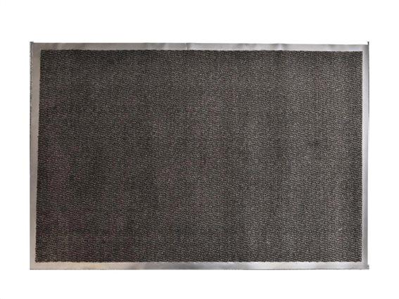 Πατάκι Χαλάκι εισόδου σε μαύρο χρώμα με βάση από καουτσούκ 80x120 cm, Lisa