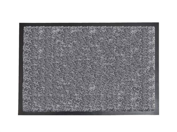 Πατάκι Χαλάκι εισόδου σε γκρί χρώμα με μαύρη βάση 60x80 cm, Baptiste