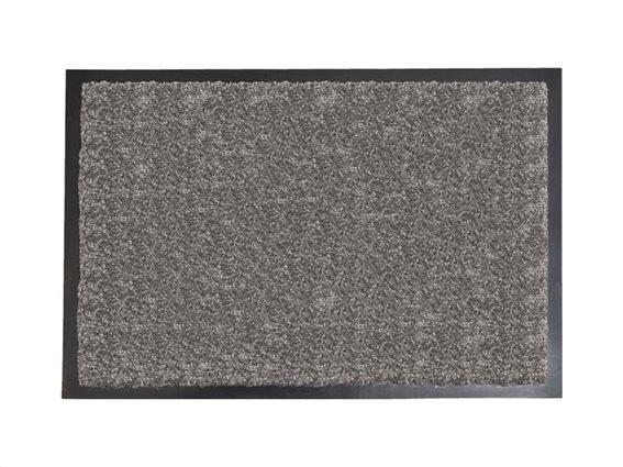 Πατάκι Χαλάκι εισόδου σε γκρι ανοιχτό χρώμα με μαύρη βάση  60x80 cm, Baptiste