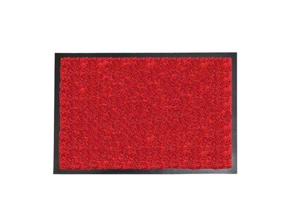 Πατάκι Χαλάκι εισόδου σε κόκκινο χρώμα με μαύρη βάση 80x120 cm, Baptiste