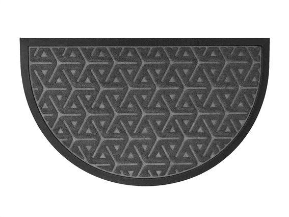 Πατάκι Χαλάκι εισόδου με γεωμετρικά σχέδια σε σκούρο γκρι χρώμα 45x75 cm, Wilson