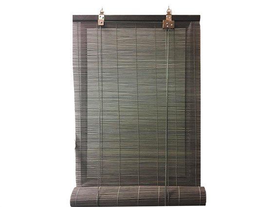 Στόρι Σκίασης Ρόλερ από ξύλο Bamboo σε γκρι χρώμα, 120x180 cm