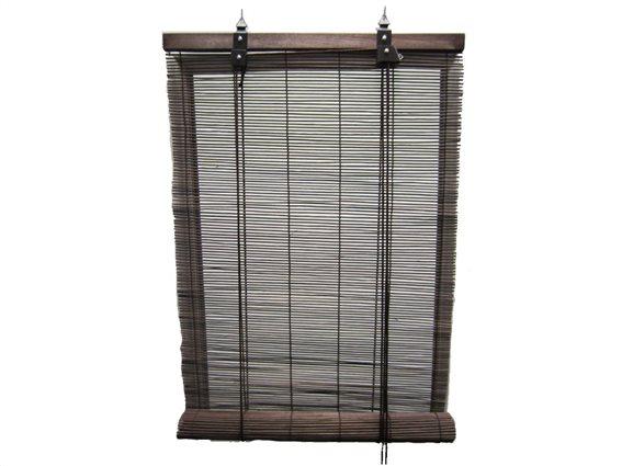 Στόρι Σκίασης Ρόλερ από ξύλο Bamboo σε σκούρο καφέ χρώμα, 60x180 cm
