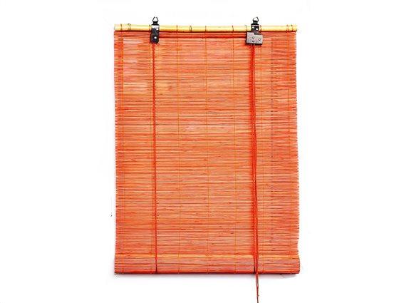 Στόρι Σκίασης Ρόλερ από ξύλο Bamboo σε πορτοκαλί χρώμα, 90x180 cm