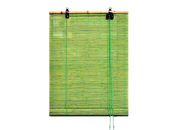 Στόρι Σκίασης Ρόλερ από ξύλο Bamboo σε πράσινο χρώμα, 90x180 cm