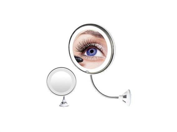 Aria Trade Μεγεθυντικός Καθρέπτης Με Βεντούζα Και LED Φωτισμό με τεχνολογία Easy-Lock