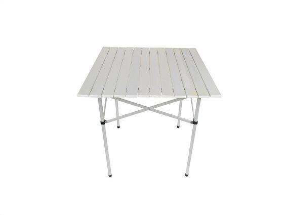 Πτυσσόμενο Τραπέζι Κήπου και Βεράντας σε λευκό χρώμα, 70x70x70 cm, Garden Camping Table