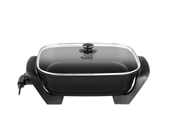 TurboTronic Ηλεκτρικό Αντικολλητικό Τηγάνι Πολυμάγειρας Τεπανγιάκι 1500W σε μαύρο χρώμα, Turbotronic TT-EP4