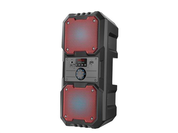 Sogo Φορητό Ασύρματο Επαναφορτιζόμενο Ηχείο Bluetooth σε Μαύρο Κόκκινο χρώμα, ALT-SS-8463-R