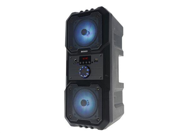 Sogo Φορητό Ασύρματο Επαναφορτιζόμενο Ηχείο Bluetooth σε Μαύρο Γκρι χρώμα, ALT-SS-8463-GR