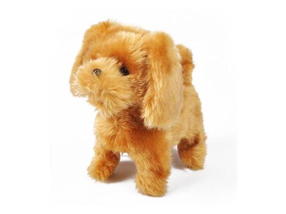Παιδικό Διαδραστικό Παιχνίδι σκύλος που γαυγίζει με λουράκι και χτένα, 24x12.5x23 cm