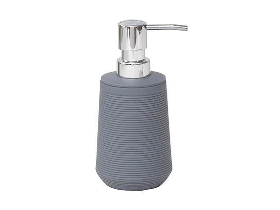 Διανεμητής σαπουνιού Δοχείο για κρεμοσάπουνο 270ml με αντλία σε γκρι χρώμα, 7.50x7.50x16.50 cm