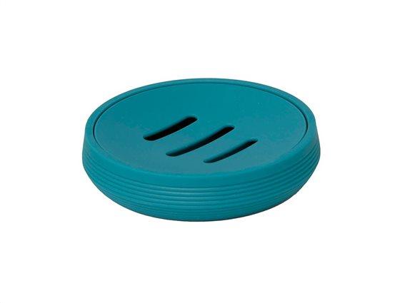 Σαπουνοθήκη Μπάνιου σε γαλάζιο χρώμα με σχέδιο ρίγες, 11x2.8 cm