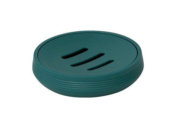 Σαπουνοθήκη Μπάνιου σε σκούρο πράσινο χρώμα με σχέδιο ρίγες, 11x2.8 cm