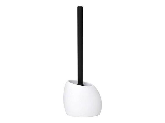 Πιγκάλ Μπάνιου σε σχήμα πετραδιού σε λευκό χρώμα, 11.5x9.5x37 cm