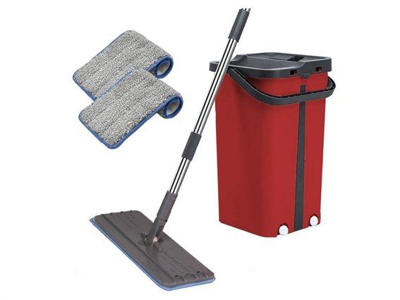 Cenocco Σύστημα Καθαρισμού με κουβά και Αυτοκαθαριζόμενη Σφουγγαρίστρα σε κόκκινο χρώμα, CC-9077RD