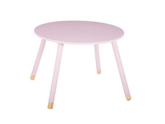 Ξύλινο Παιδικό Τραπεζάκι σε ροζ χρώμα, Pink Sweet Table, 60x43 cm