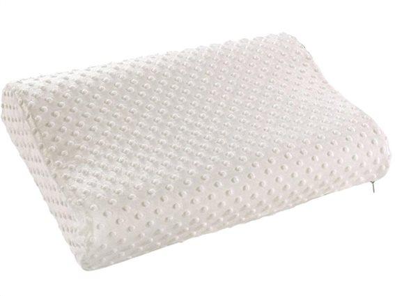 Ανατομικό Ορθοπεδικό Μαξιλάρι ύπνου με μαξιλαροθήκη, 47.5x29x 6-9cm, P5587