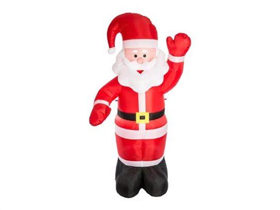 Διακοσμητικός Χριστουγεννιάτικός Φουσκωτός  Άγιος Βασίλης Ύψους 180cm