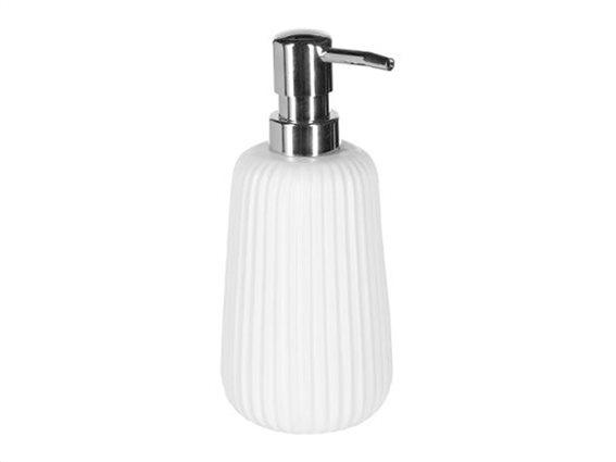 Διανεμητής Σαπουνιού Soap Dispenser με αντλία σε λευκό χρώμα, 9x9x18 cm
