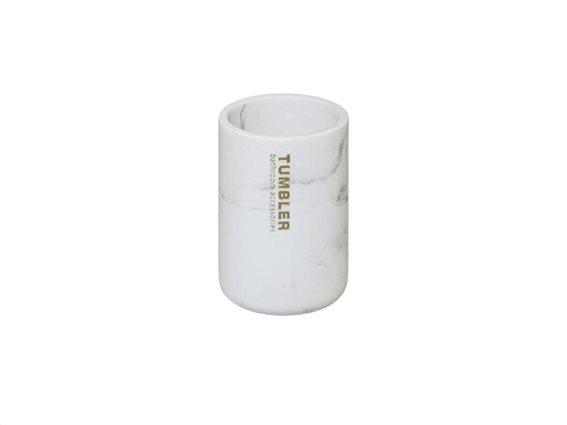 Δοχείο Μπάνιου για Οδοντόβουρτσες με σχέδιο μάρμαρο, 7.5x11 cm