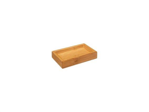 Bamboo Ξύλινη Σαπουνοθήκη Μπάνιου, διαστάσεις 12.3x8x2.5cm