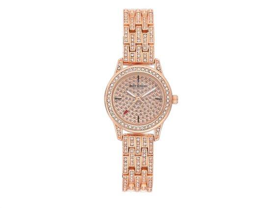 Juicy Couture Γυναικείο Ρολόι Αναλογικό, 25mm με μπρασελέ-κούμπωμα ασφαλείας, JC/1144PVRG
