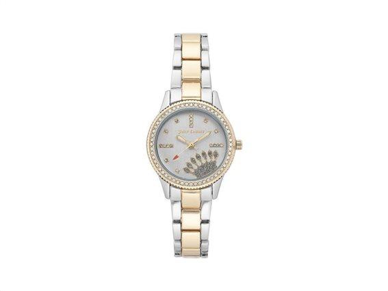 Juicy Couture Γυναικείο Ρολόι Αναλογικό, 28mm με μπρασελέ-κούμπωμα ασφαλείας, JC/1110SVTT