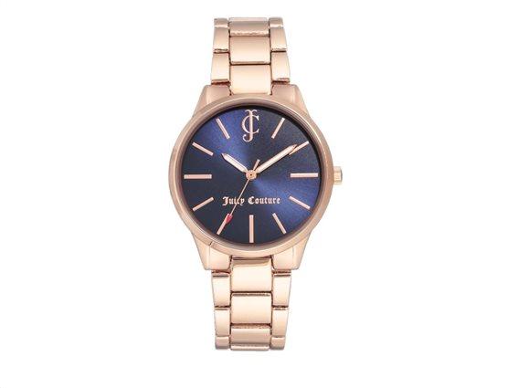 Juicy Couture Γυναικείο Ρολόι Αναλογικό, 36mm με μπρασελέ-κούμπωμα ασφαλείας,  JC/1058NVRG