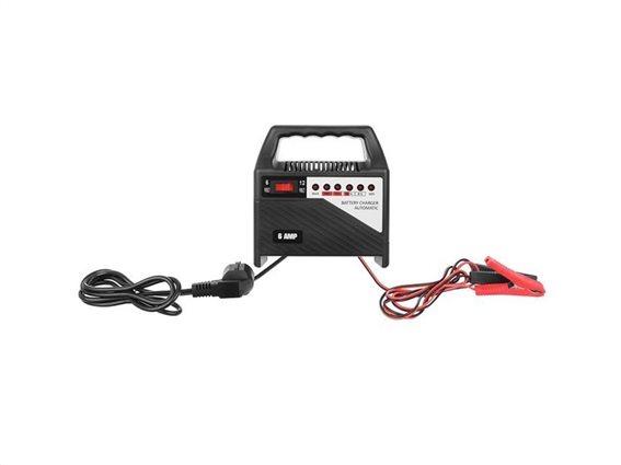 Φορτιστής Μπαταρίας Αυτοκινήτου 12V 6AMP, 16x8.5x18 cm, Battery charger