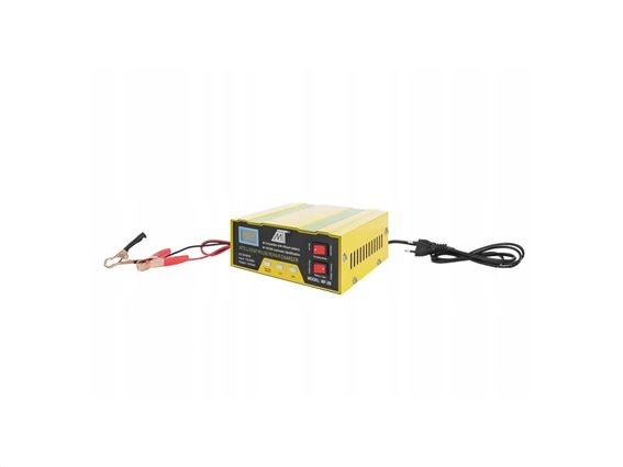 Φορτιστής Μπαταρίας Αυτοκινήτου 12/24V με LED οθόνη, 17.5x13.8x6 cm, Malatec Battery charger