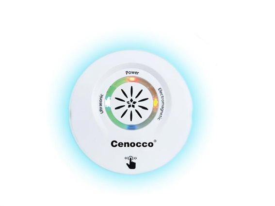 Ηλεκτρικό Απωθητικό εντόμων με λειτουργίες υπερήχων και ηλεκτρομαγνητική λειτουργία, Cenocco CC-9097