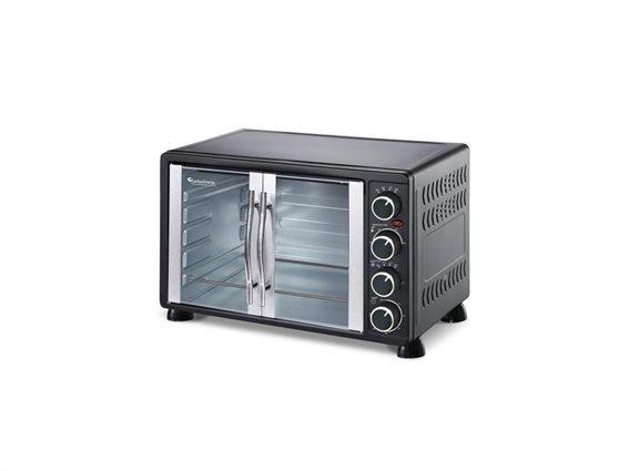 TurboTronic Ηλεκτρικός Φούρνος Grill 2200W χωρητικότητας 55L με 2 ταψιά, TT-EV55