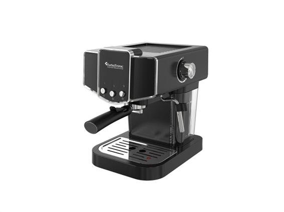 TurboTronic Καφετιέρα Espresso Cappuccino 19 bar Πίεσης με Αποσπώμενο Δοχείο 1.2 Lt, Turbotronic TT-CM23 Μαύρο