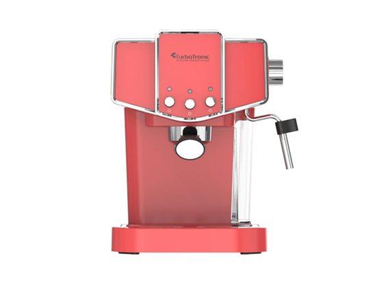 TurboTronic Καφετιέρα Espresso Cappuccino 19 bar Πίεσης με Αποσπώμενο Δοχείο 1.2 Lt, Turbotronic TT-CM23 Κόκκινο